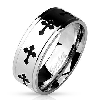 jewels mystic steel jewelry srainless steel ring cross