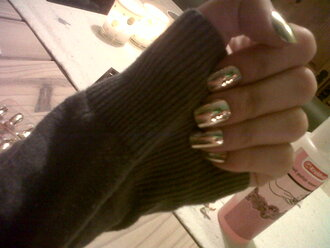 nail polish gold fake nails fake nails nail art