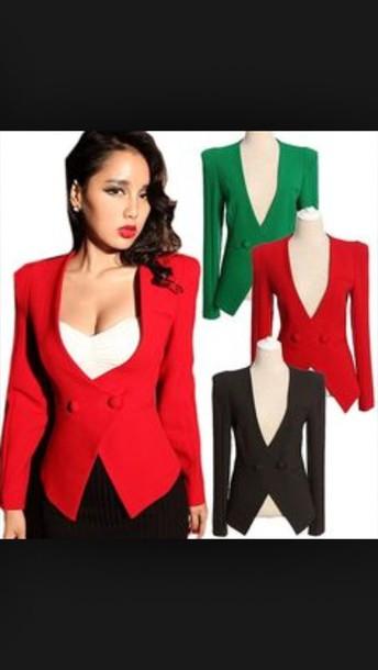 jacket tuxedo jacket red fashion