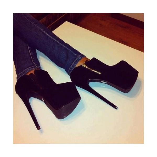 Chaussures bottines à platform elya avec zip décoratif