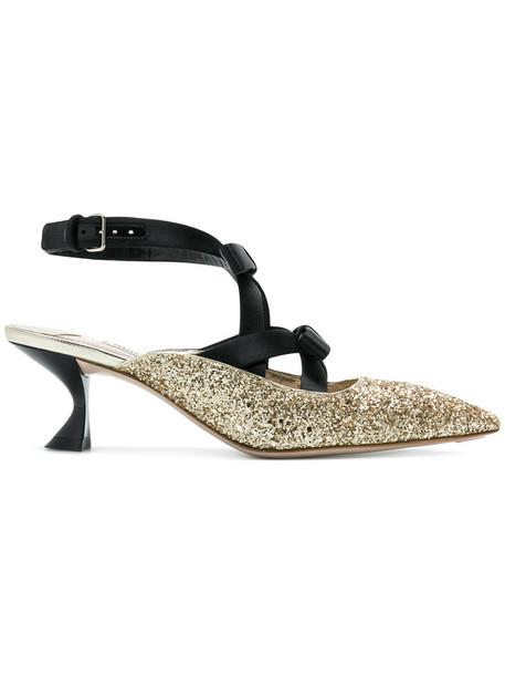 Miu Miu ankle strap women pumps leather grey metallic shoes