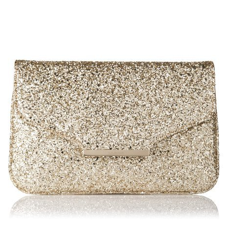 Dahlia Glitter Clutch Bag Soft Gold L.K.Bennett on Wanelo