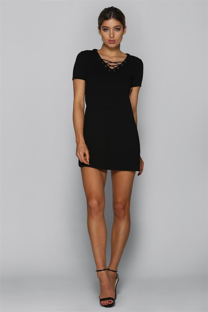 Bad AF Fashion Clara Dress in Black