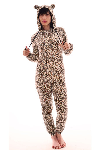 Sienna Leopard Print Cat Onesie - Pop Couture