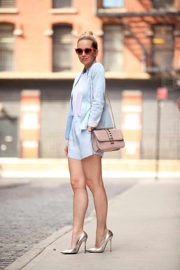 brooklyn blonde jewels shorts jacket bag sunglasses shoes