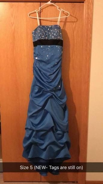 dress blue blue dress prom dress prom ruffle ruffle dress