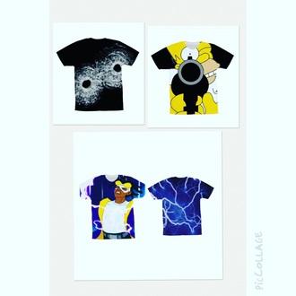 shirt static shock cartoon 3d sweatshirts homer simpson