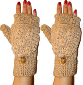 gloves,women,fingerlesss,button gloves,button fingerles,crochet,crochet gloves,crochet fingerles,fashion,holidays,womenaccessories,girl,gift ideas,button,brown gloves,brown fingerless,beige,ivory,wanelo,pinterest,gloves fingerless