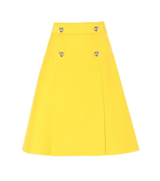 Gucci Wool and silk skirt in yellow