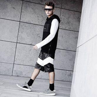 sweater maniere de voir hoodie hoody sleeveless embossed summer jumper