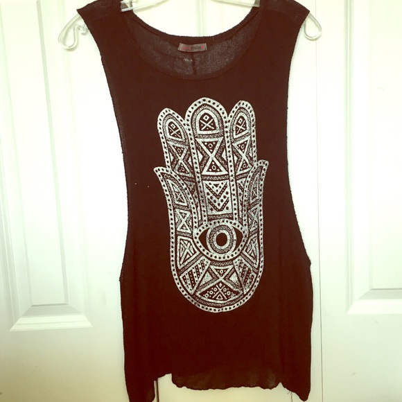 8637ce1bf5a558 75% off Joyce Leslie Tops - Hamsa muscle tank from Jaymee s closet ...