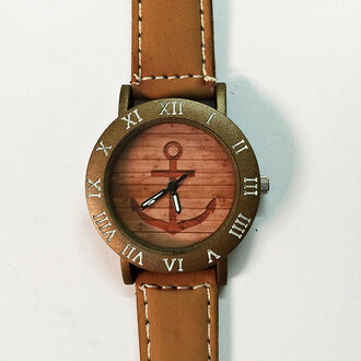 jewels watch handmade style fashion vintage etsy freeforme anchor wood anchor on wood