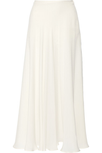 skirt maxi skirt maxi silk white off-white