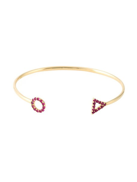 women gold red jewels