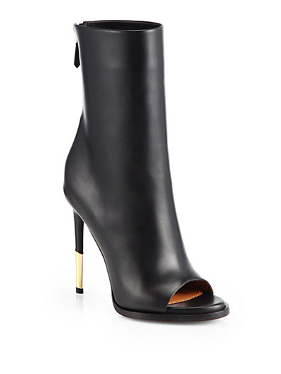 Givenchy - Leather Shark-Heel Ankle Boots - Saks.com