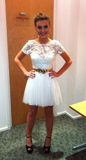 dress,white lace,white dress,white lace dress,little mix,love,her,this,perrie edwards,zayn malik,one direction,prom dress,summer dress,clothes,shoes,little white dress,lace dress