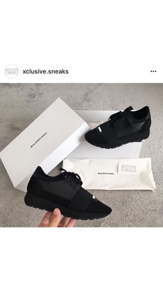 shoes black trainers sock shoes balenciaga sneakers