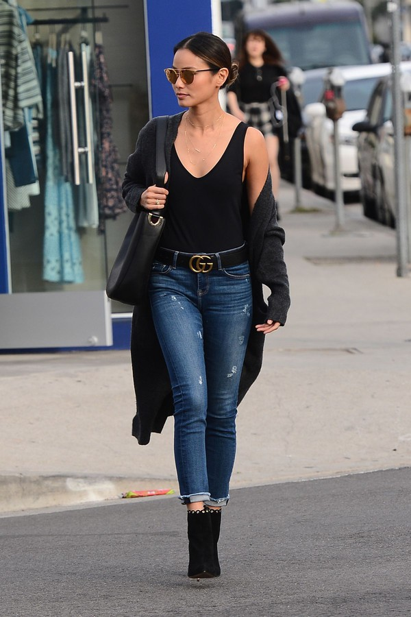 Top Jeans Ankle Boots Streetstyle Blogger Jamie Chung