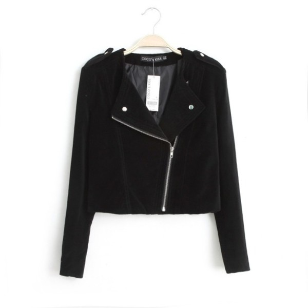 jacket women ladies slim zip