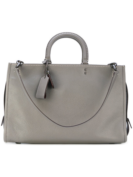 Coach - boxy tote - women - Leather - One Size, Grey, Leather