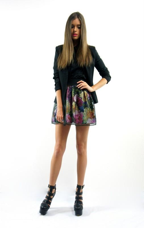Hey rosie floral puff skirt