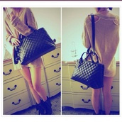 bag,black,quilted