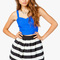 A'gaci stripe flare mini skirt - bottoms