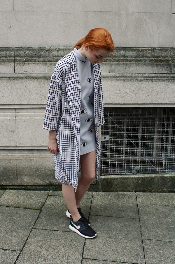 hannah louise fashion coat dress