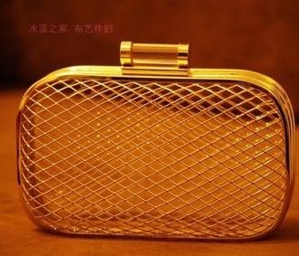bag aliexpress bird cage clutch gold