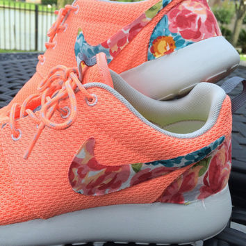 Floral Nike Roshe Run- Atomic Pink on Wanelo