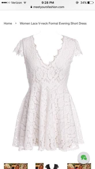 dress white lace dress mini dress lace dress