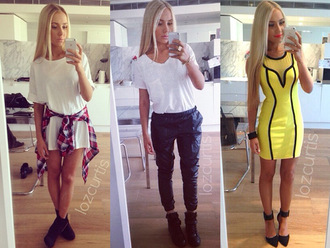 lauren curtis lauren curtis make-up bodycon bodycodress yellow neon neon yellow mesh neon yellow dress neon dress yellow dress blackandyellow blackandyellowdress heels high heels heeled shoes high heel sandals sandals strappy straps strappy sandals bracelets jewels black jewels blonde hair joggers pants bottoms black joggers black bottoms black trousers black pants black leather black leather pants black leather trouser black leather trousers leather joggers elasticated elastic baggy puffy puff trousers baggy trousers white t-shirt t-shirt v-neck tshirt tee white tee oversized tee boots lace up boots black boots black leather boots leather boots white oversized tshirt white oversized tshirt dress overisized tshirt dress shirt dress jumpsuit monocrome roll up sleeves roll up shorts roll up tshirt zip zip boots zip up zip up boots black zip up boots heeled boots black heeled boots iphone flannel flannel tshirt flannel shirt check shirt check tshirt checkered navy grey tie up waist wrap red and blue red and blue flannel famous wooden hipster classy going out sportswear formal formal wear wheretofind shop white dress blouse