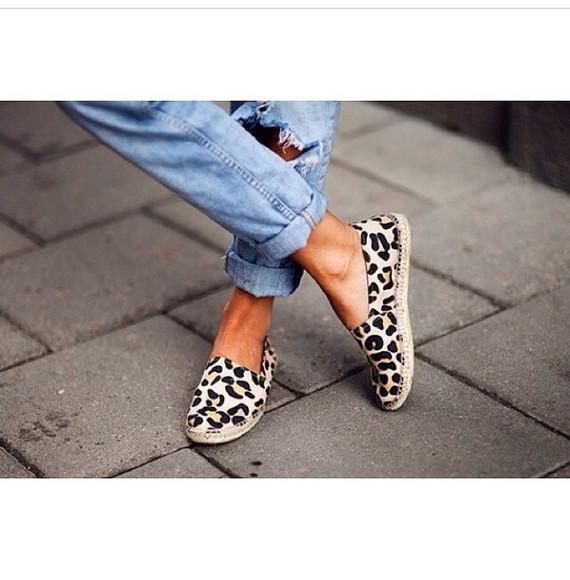 shoes leopard print espadrilles espadrille summer shoes