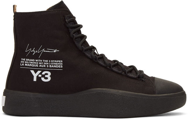 Y-3 high sneakers black shoes