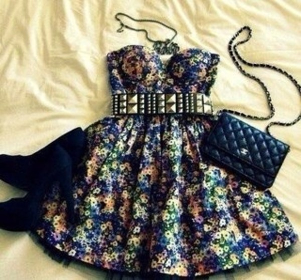 dress top tank top corset dress bustier dress corset flowers yellow