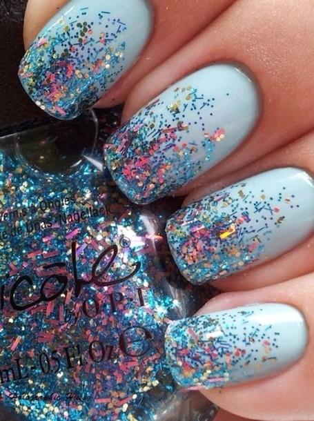 nail polish, sparkle, sparkle, rainbow, colorful, color/pattern ...