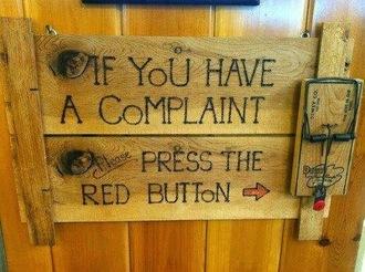 blouse sign complaint button trap knot wood press