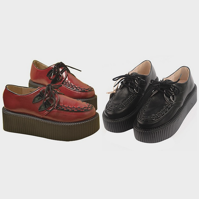 Faux leather high creepers · just fashion ·