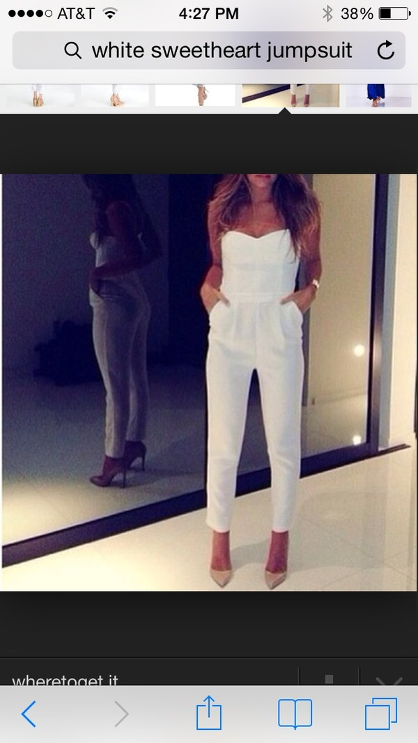dress white jumpsuit jumpsuit