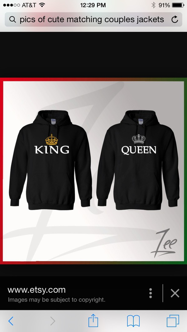 couple hoodie king queen matching his and. Black Bedroom Furniture Sets. Home Design Ideas
