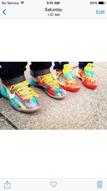 shoes shors nike colorful