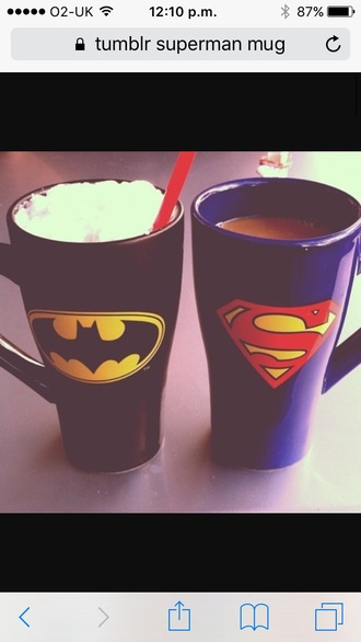 home accessory mug cup superman batman