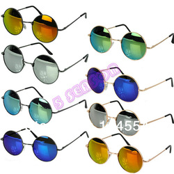 Online shop drop shipping hot cool unisex colorful sunglasses restoring  mirror round frame retro sunglasses 8 colors 18234