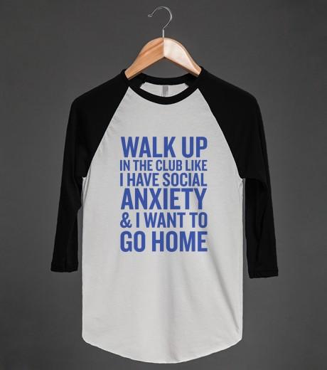 Walk Up To The Club | Raglan T-shirt | Skreened