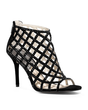 MICHAEL Michael Kors  Yvonne Crystallized Cage Bootie - Michael Kors