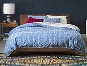 home accessory,bedding,blue bed,ombrè,duvet,boho comforter