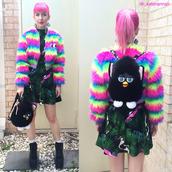 bag,backpack,black,kawaii,kawaii grunge,skirt,jacket,pastel,pastel hair,pink,grunge,soft grunge,fashion,platform shoes,black dress,streetstyle,jumpsuit,hat,tumblr,neon,instagram,pink hair