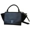 Trapeze leather handbag céline black