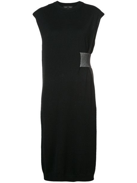 Proenza Schouler dress women black silk wool