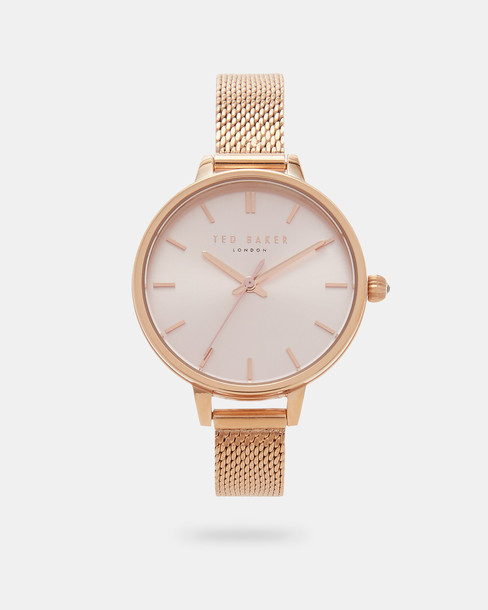 Ted Baker rose gold rose watch gold jewels